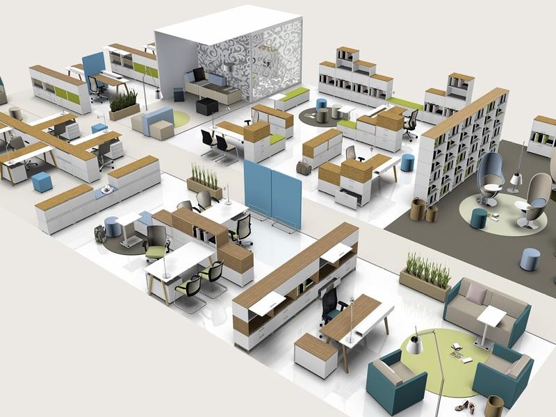 K+N Großraumarbeitsplatz - Konzept